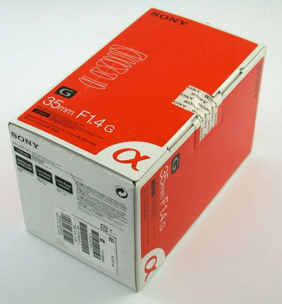 SONY SAL35F14G 1,4/35 35mm F1,4 G Alpha Objektiv Brand-NEU