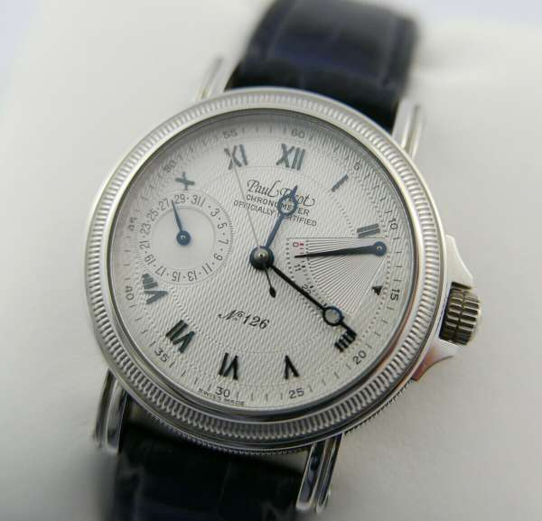 PAUL PICOT Chronometer reserve automatic Atelier 1200 steel date FULL SET