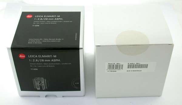 LEICA Elmarit M Asph 2,8/28 28mm F2,8 11606 6-bit neu