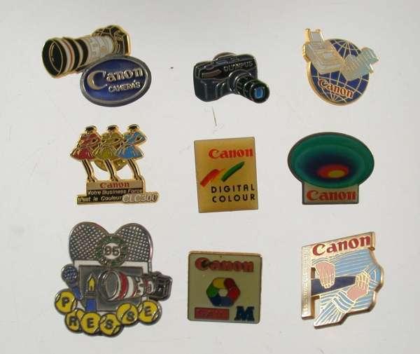 45 pcs. CANON collection rare pins vintage Porsche 924