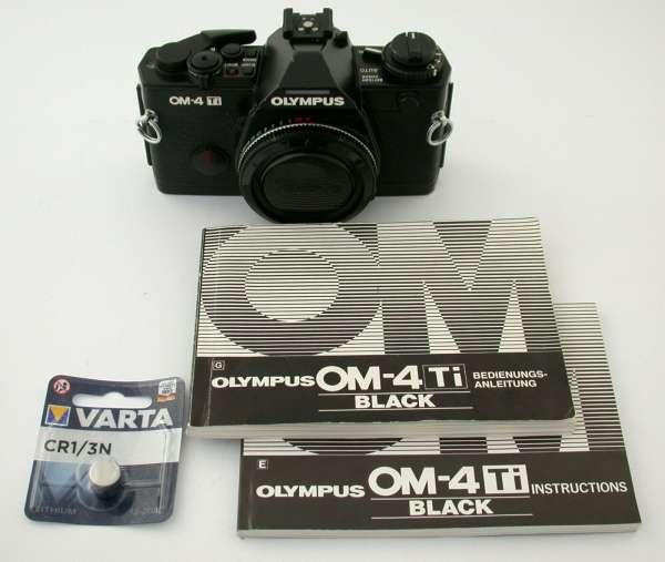 OLYMPUS OM-4 Ti Titan analog premium Topmodell Gehäuse 35mm SLR