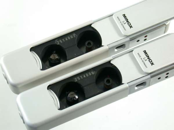MINOX LX 2514-006 + 007 set 8x11 new collection Minox-Logo in front