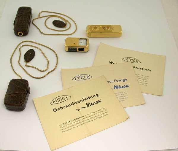 MINOX Vintage Set gold 8x11 mit Belichtungsmesser top Zustand