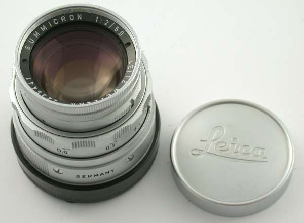 LEICA Summicron M 2/50 50 50mm F2 silver chrome rigid