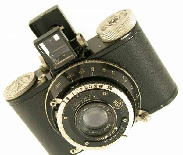 NAGEL Pupille Elmar 3,5/50 5cm 50 1931 Rolloroy prewar antique 127 Film 3x4 TOP!