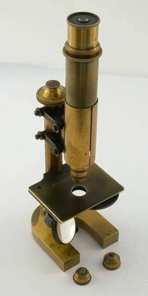LEICA Leitz Mikroskop Stativ IV Lochblenderevolver Messing 1879