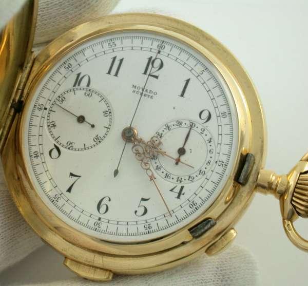 MOVADO Surete Minuten-Repetition Taschenuhr Chrono 750 Gold