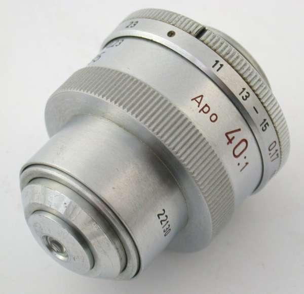 LEICA Leitz Mikroskop Objektiv APO 40x 40:1 170/011-0,23 A 0,95