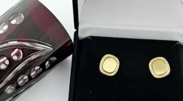 VICTOR MAYER cufflinks 585 gold diamond 0,35 ct 20,3 g