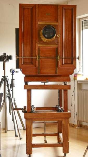 BENTZIN Holzkamera Plattenkamera antik