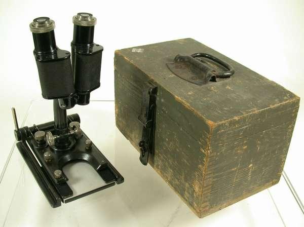 LEICA Leitz WW I Militärf Feld Mikroskop Jalicht LDM 10x Okulare 3,5x 7x rare