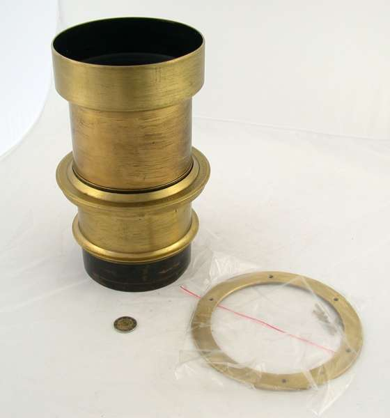 Vitax Portrait Objektiv Messing brass lens Wollensak Studio