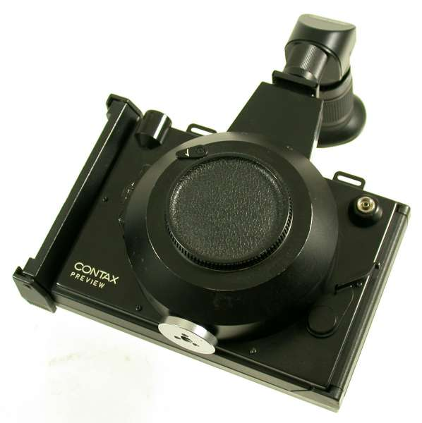 CONTAX Polaroid camera mechanic shutter for Zeiss lens instant back look!