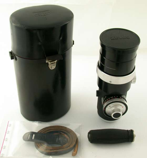 ZEISS IKON Contarex Olympia Sonnar 4/250 250 250mm F4 4 prime lens caps + case