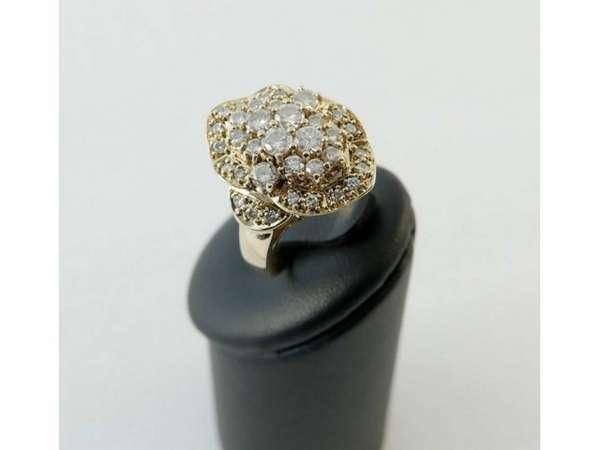Ring Gelb-Gold 585 Brillant Brillanten 1,25 Karat Gr. 54