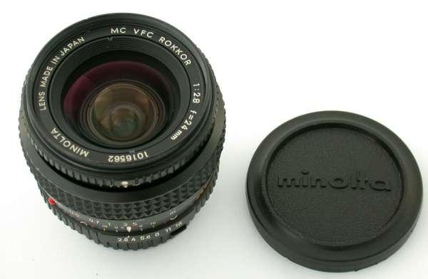 MINOLTA MC MD Rokkor VFC 28/24 24mm F2,8 variable field control