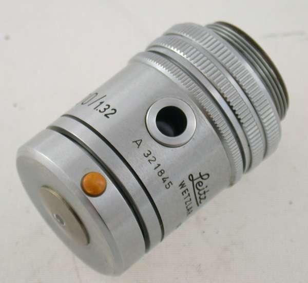 LEITZ LEICA Mikroskop Objektiv Ks PD FL Oel 100 0-650my RMS top
