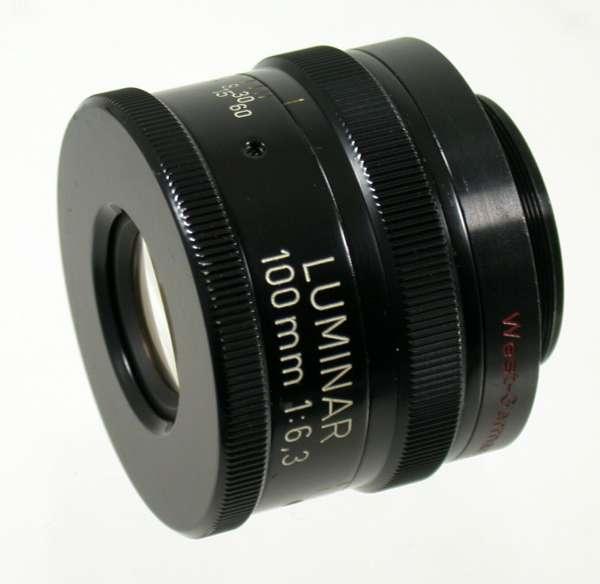 CARL ZEISS Luminar Linhof 4x5 F6,3/100 mm loupe lens size 0