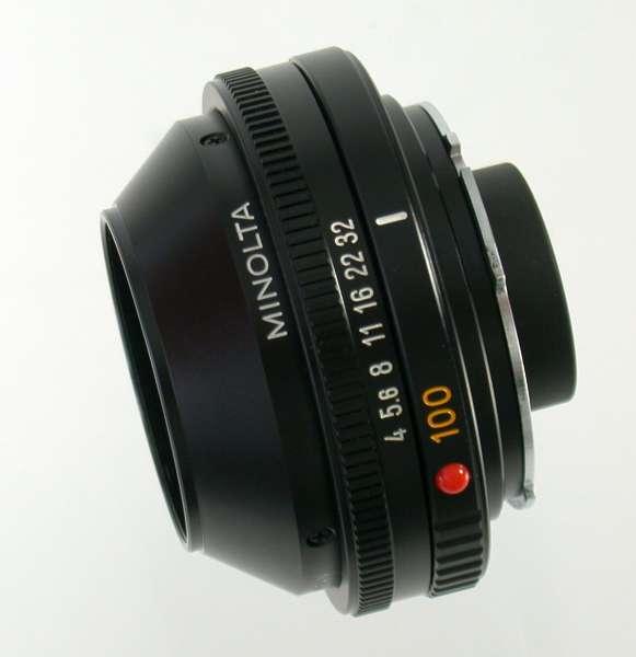 MINOLTA MD 4/100 Auto bellows macro Rokkor 100 100mm F4 4 top lens head