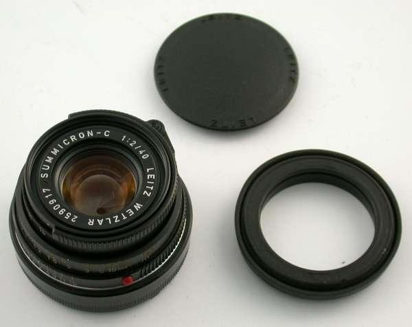 LEICA Summicron-C 2/40 Pancake 40 40mm F2 2 CL CLE M4 M10 M6 adaptable A7 MFT