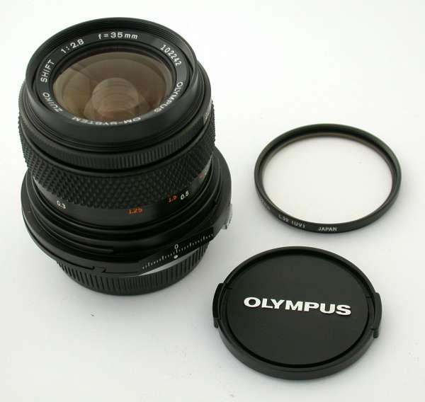 OLYMPUS OM Zuiko Shift 2,8/35 35mm 35 F2,8 adaptable EOS FX A7