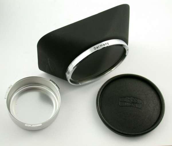 ZEISS IKON Contarex Planar Distagon F2,8/25 mm + original Deckel und Sonnenblende