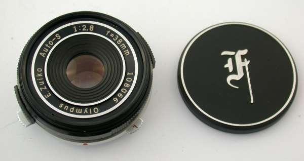 OLYMPUS Pancake lens Zuiko Auto-S 2,8/38 38 38mm top PEN FT FV