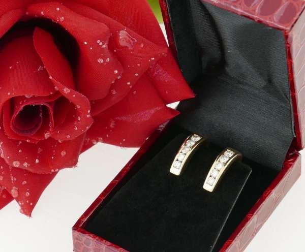 Ear Clips brillant diamonds 0,70 ct WEMPE gold 750