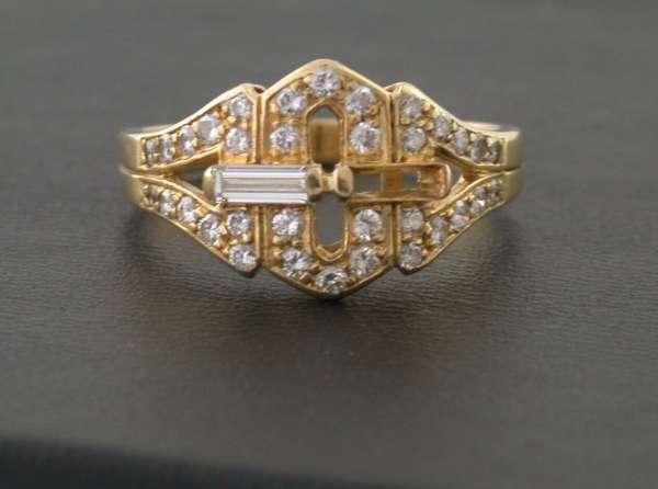 Ring Gold 750 Brillant Diamant 0,66 Karat Gr 57 LESEN