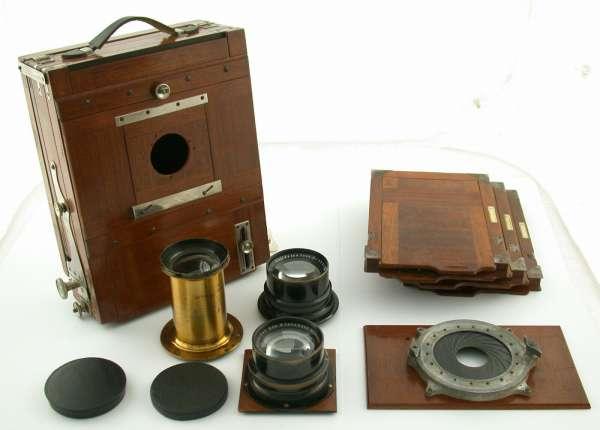 BRÜCKNER 13x18 wooden camera full set Zeiss Schneider Steinheil LOOK