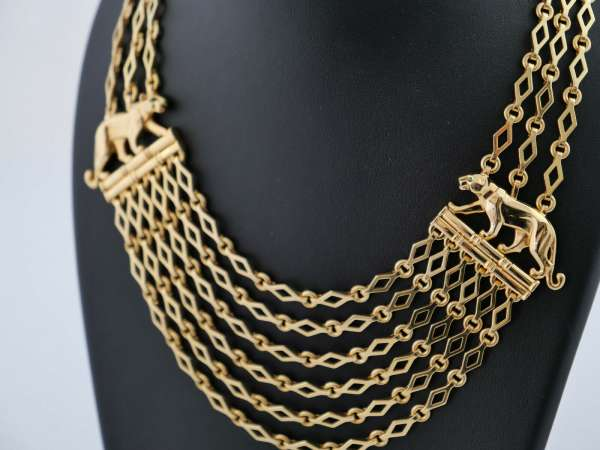 CARTIER Panthere Collier necklace Gold 750 prime dream original