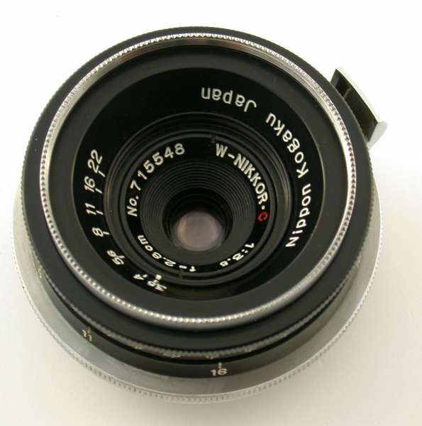NIKON W-Nikkor.C 3,5/28 28mm 2,8cm F3,5 Nippon Kogaku S S2 SP S3M top serviced