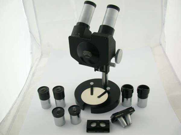 HENSOLDT Mikroskop Binokular 8 Okkulare 2 Objektive TOP
