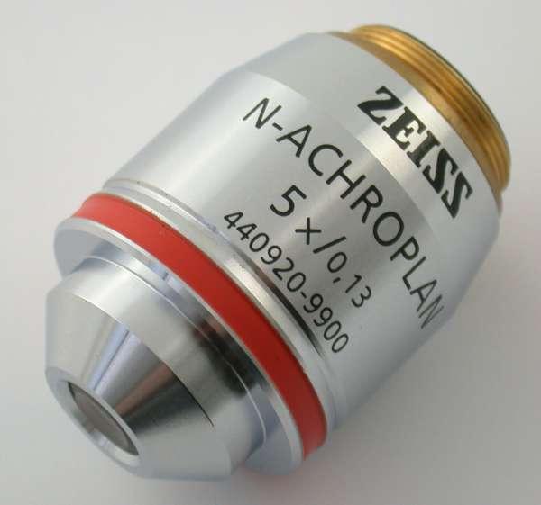 ZEISS 440920-9900 N-Achroplan 5x/0,13 °°/- RMS microscope lens