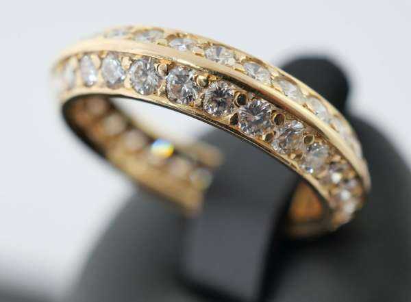 EGF Ring Memoire Rose-Gold 750 Brillanten 2,05 Karat Gr. 53