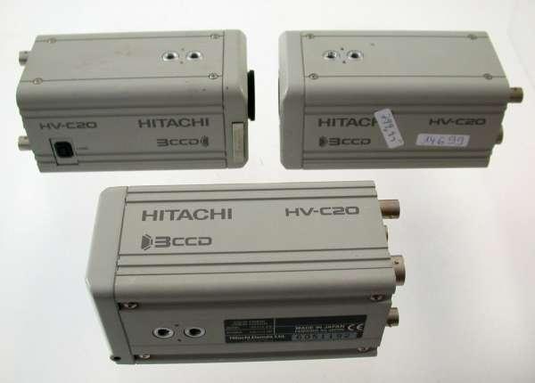 Lot HITACHI 3CCD HV-C20 PAL camera Kamera survey security cam