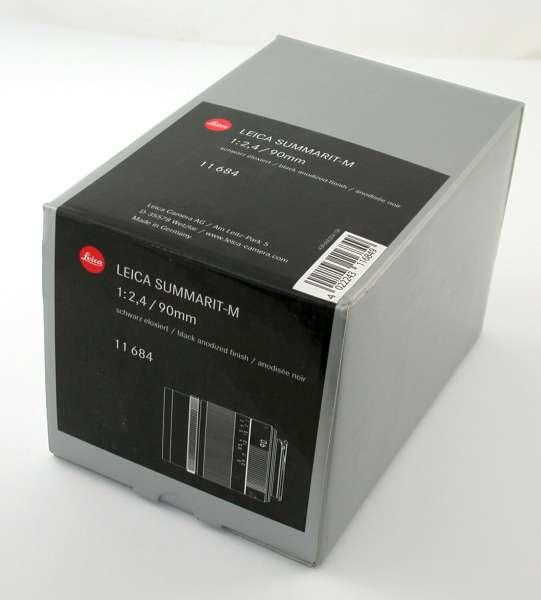 LEICA Summarit-M F2,4/90 mm Objektiv 11684 6-bit aus Insolvenz NEU schwarz eloxiert