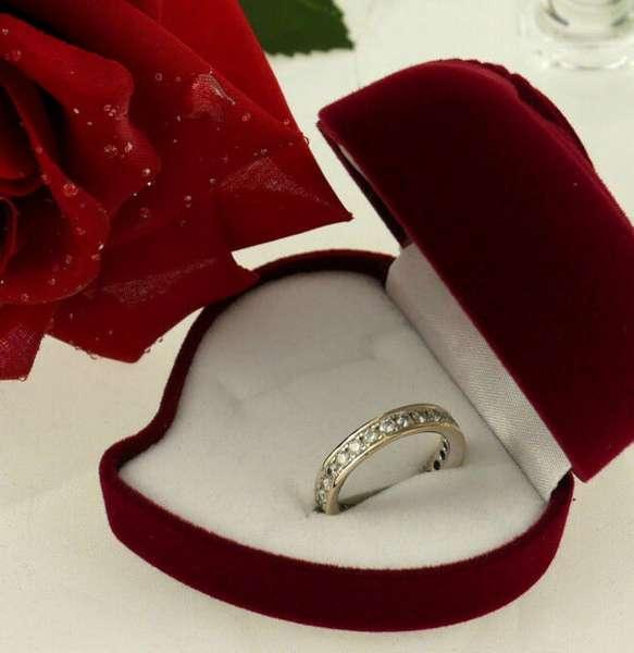 Ring Memoire Weiss Gold 750 brilliant-cut diamonds Brillanten 1,20 ct RW 54