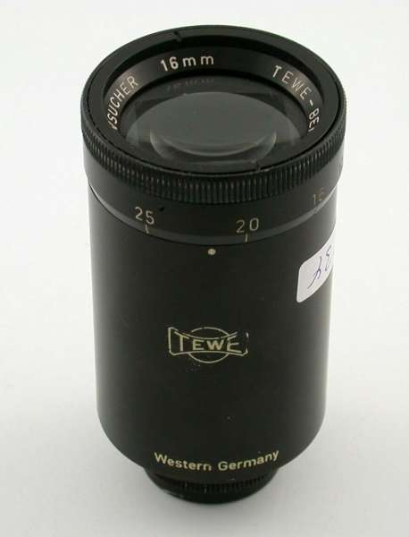 TEWE 16mm movie subject finder Germany 11,5 - 75 mm RARE